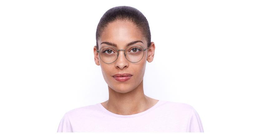 Lunettes de vue femme NOELIE argenté - Vue de face