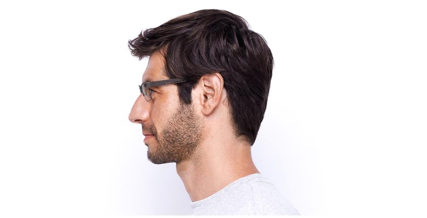 Lunettes de vue homme HUGO vert - Vue de côté