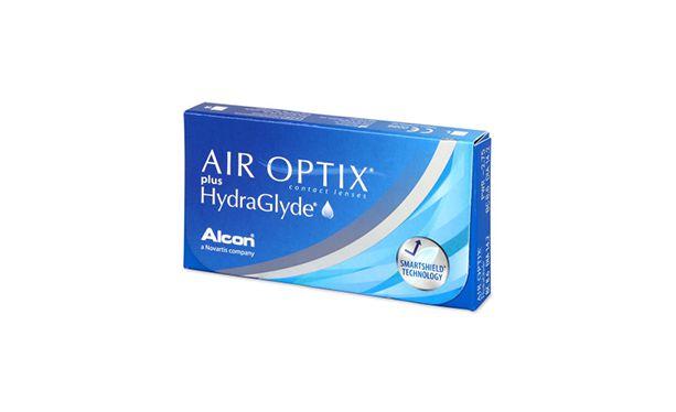 Lentilles de contact Air Optix Plus HydraGlyde 6L - Vue de face