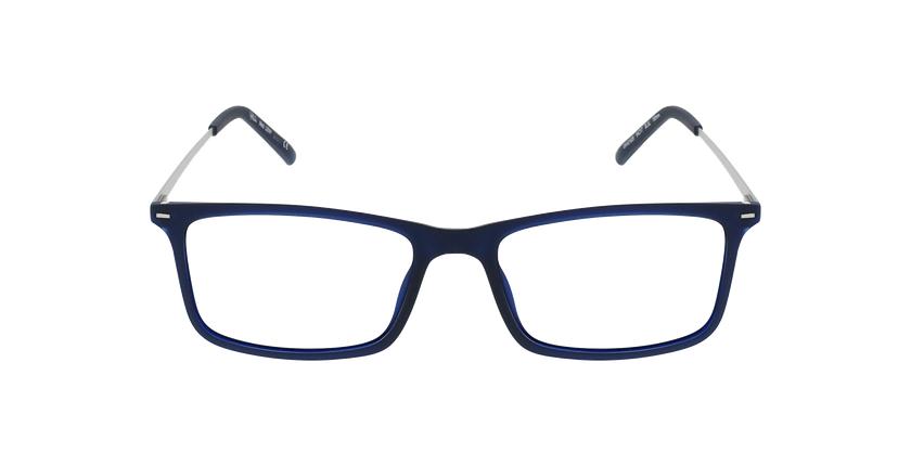 Lunettes de vue homme LENY bleu/argenté - Vue de face