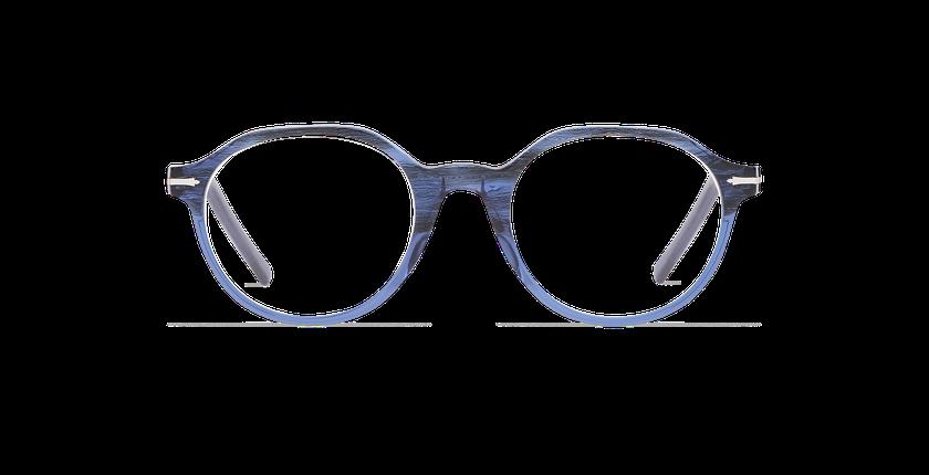 Lunettes de vue homme MOREZ bleu - Vue de face
