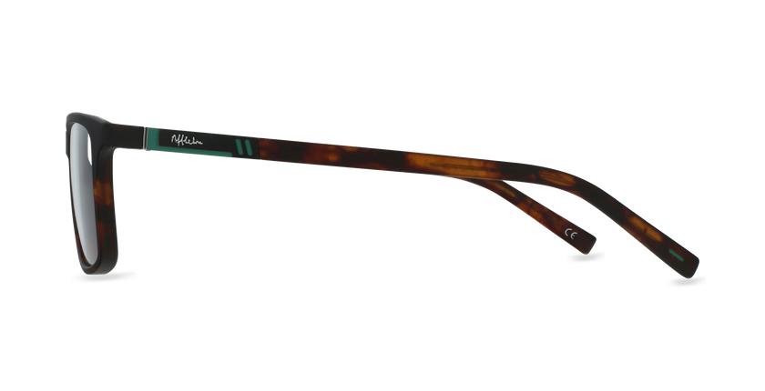 Lunettes de vue homme CESAR écaille/vert - Vue de côté