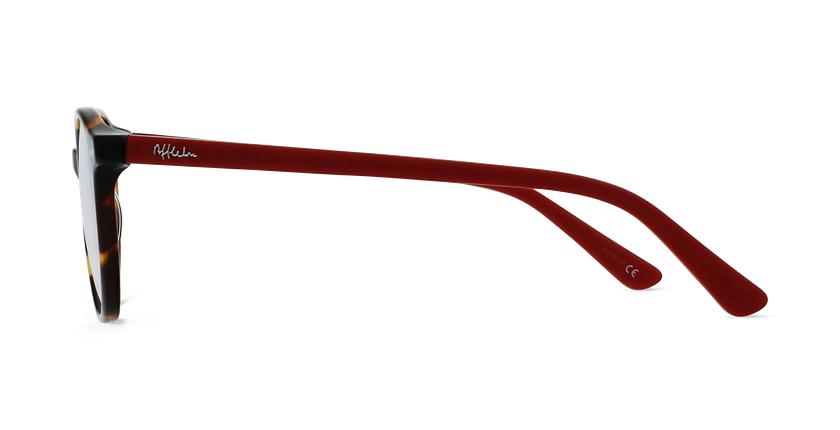 Lunettes de vue enfant JUDE écaille/rouge - Vue de côté