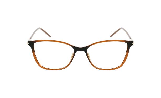Lunettes de vue femme MAGIC 89 marron - Vue de face