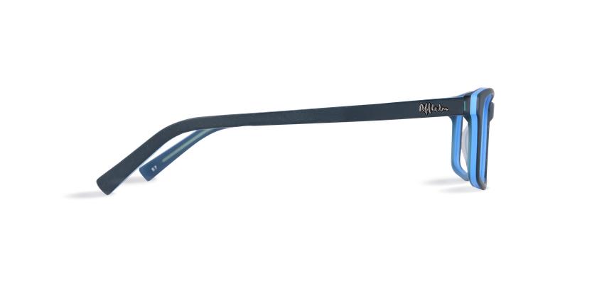 Lunettes de vue homme LEON bleu - Vue de côté