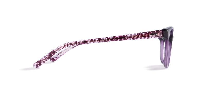 Lunettes de vue femme ZELIA violet - Vue de côté