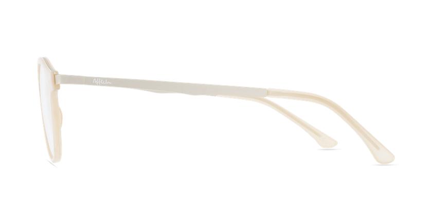 Lunettes de vue femme MAGIC 97 beige/doré - Vue de côté