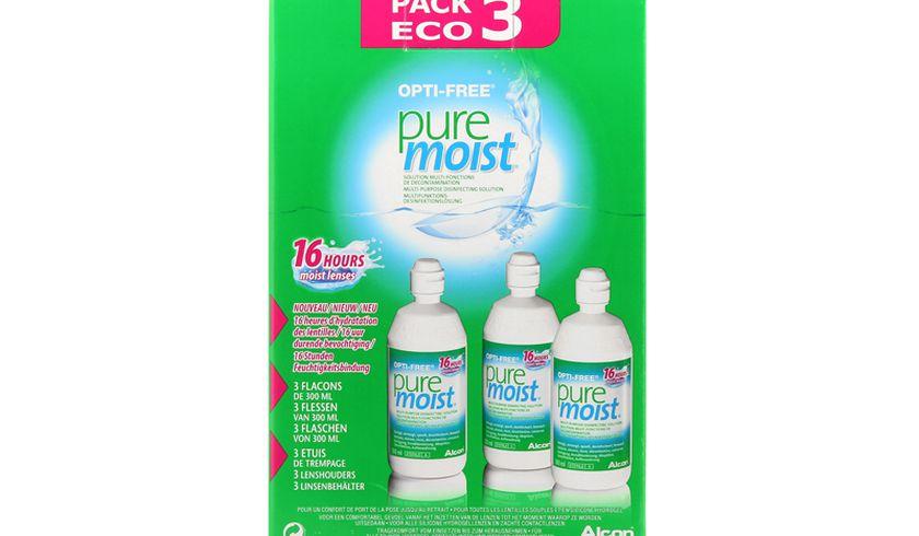 Opti-Free Puremoist 3x300ml - Vue de face