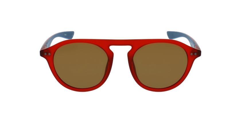 Lunettes de soleil BORNEO POLARIZED rouge/bleu - Vue de face
