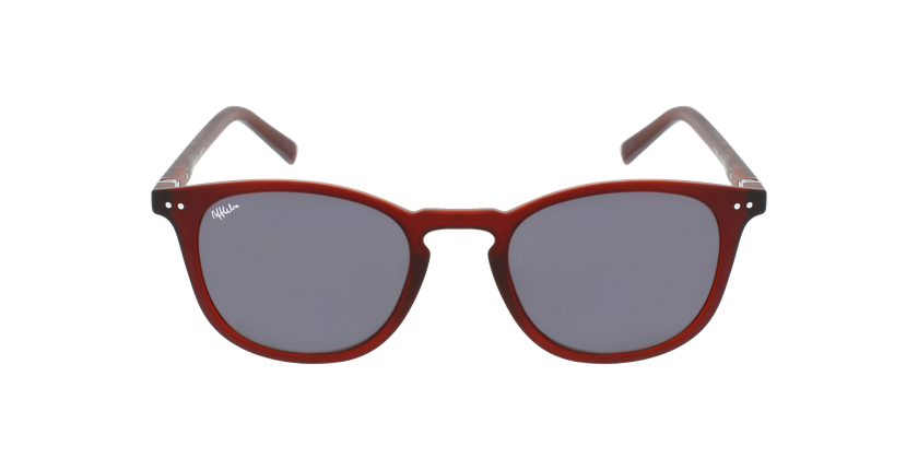 Lunettes de vue FORTY solaire Bordeaux rouge/rouge - Vue de face