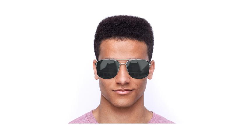 Lunettes de soleil homme DIOR180 argenté - Vue de face