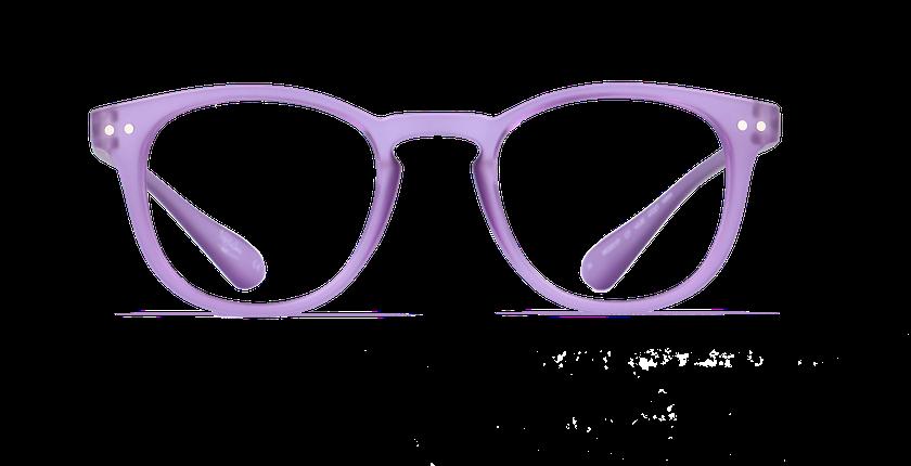 Lunettes de vue BLUE BLOCK MIXTE violet - Vue de face