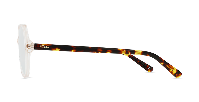 Lunettes de vue femme CONSTANCE marron - Vue de côté