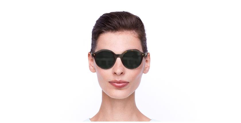Lunettes de soleil femme BA5001S écaille - Vue de face