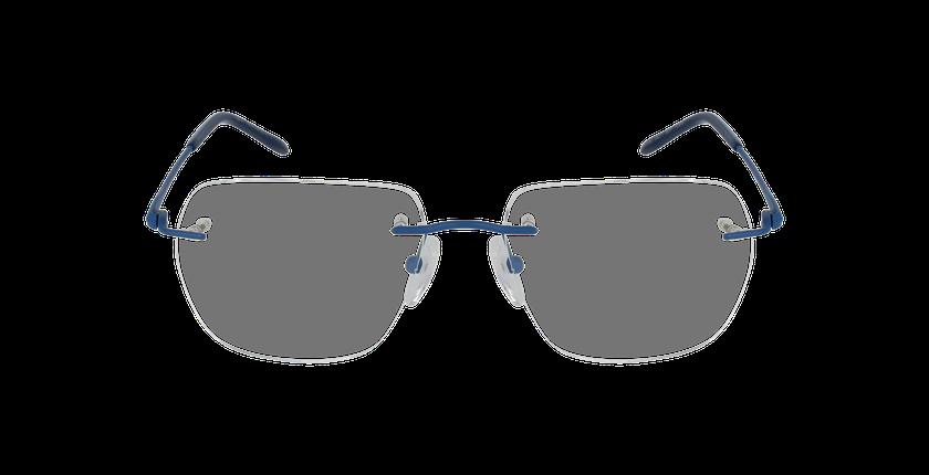 Lunettes de vue homme IDEALE-05 bleu - Vue de face