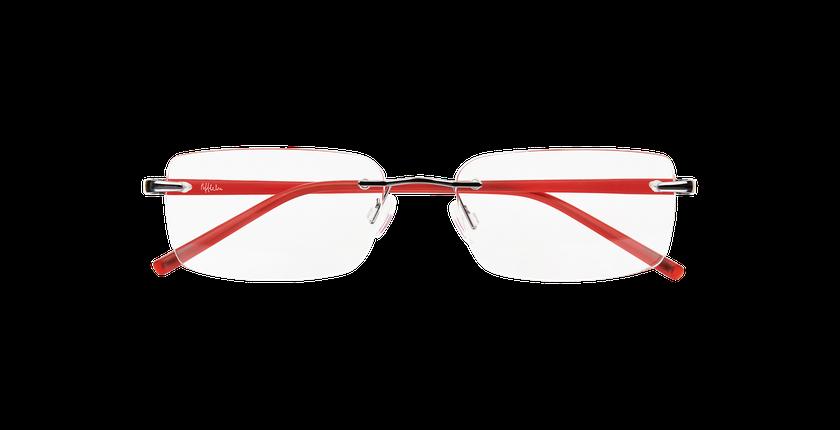 Lunettes de vue homme LIGHT TONIC gris/rouge - Vue de face