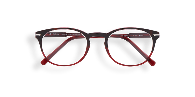 Lunettes de vue homme CHAMPAGNOLE rouge/écaille
