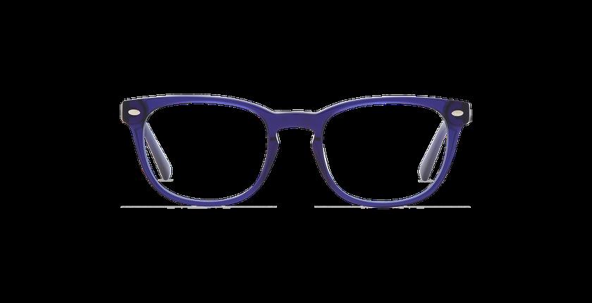Lunettes de vue homme LUCAS bleu - Vue de face