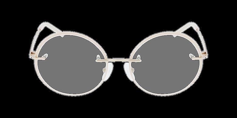 Lunettes de vue femme IDEALE-30 doré/beigeVue de face