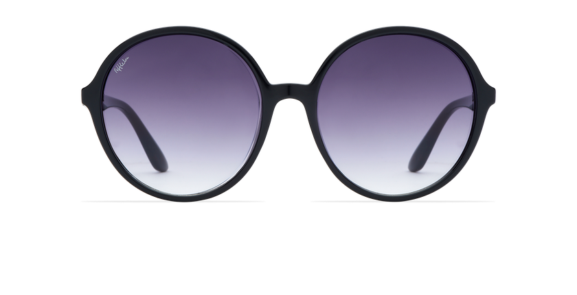 Lunettes de soleil femme ASIOCA noir - Vue de face