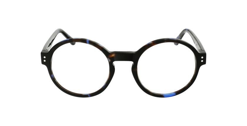 Lunettes de vue EMMY écaille/bleu - Vue de face