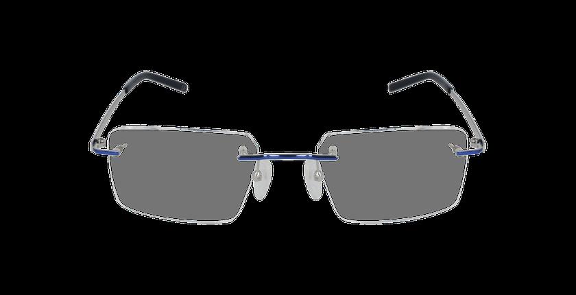 Lunettes de vue homme IDEALE-08 argenté/bleu - Vue de face