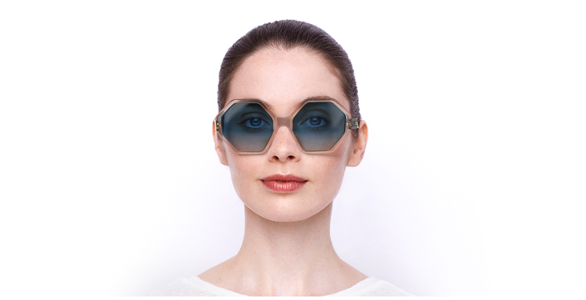Lunettes de soleil femme CE750S turquoise/bleu - Vue de face