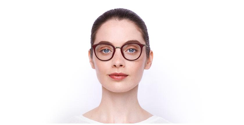 Lunettes de vue STRAWINSKI rouge - Vue de face