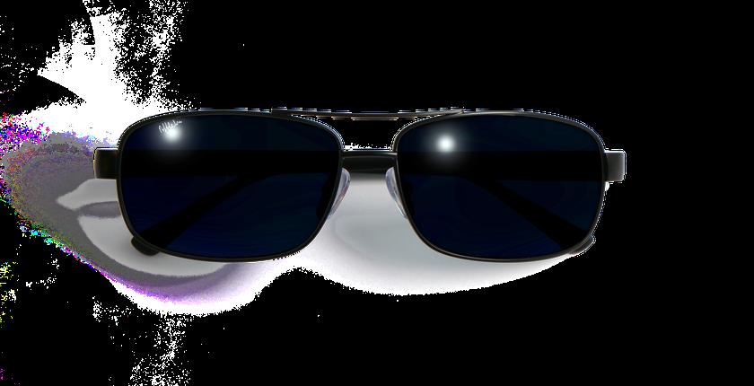 Lunettes de soleil homme ALFREDO noir - Vue de face