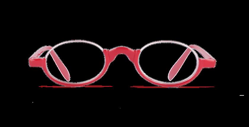 Lunettes de vue FO1 rouge - Vue de face