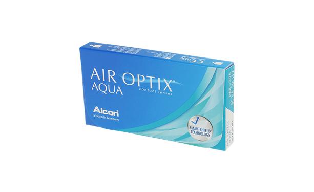 Lentilles de contact Air Optix Aqua 6L - Vue de face