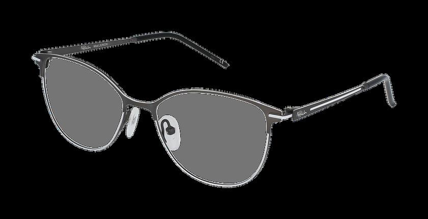 Lunettes de vue femme JUNON gris/blanc - vue de 3/4
