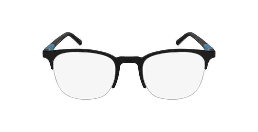 Lunettes de vue homme TRISTAN noir/turquoise - Vue de face