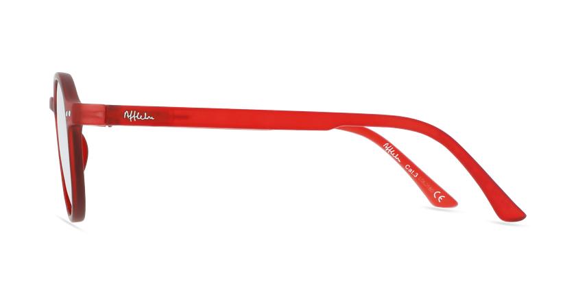 Lunettes de soleil enfant PAZ rouge - Vue de côté