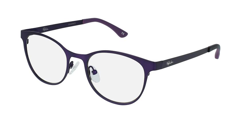 Lunettes de vue femme MAGIC 45 BLUEBLOCK violet - vue de 3/4