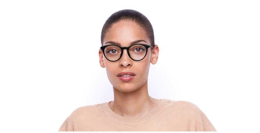 Lunettes de vue femme MONTAIGNE53 noir - Vue de face
