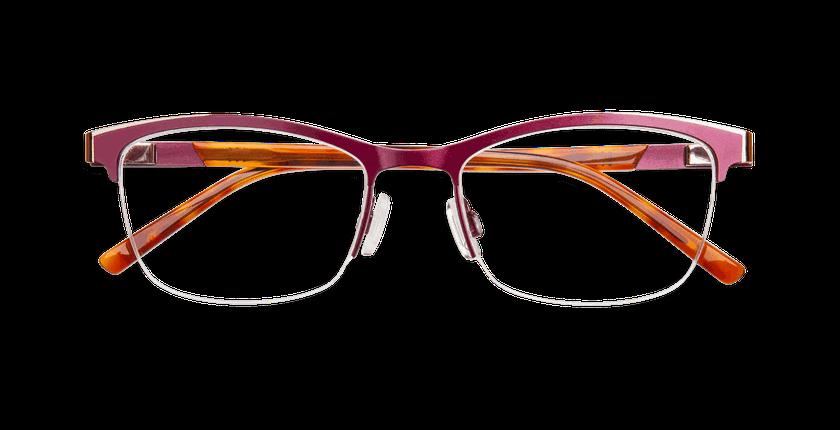 Lunettes de vue femme ALPHA2 rouge - Vue de face