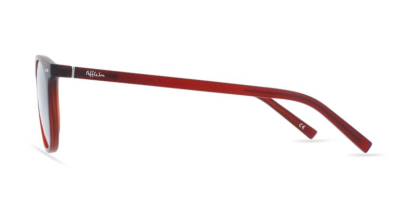 Lunettes de vue FORTY solaire Bordeaux rouge/rouge - Vue de côté
