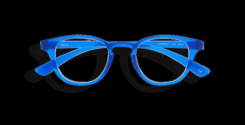 Lunettes de vue COFFRET04 bleu - Vue de face
