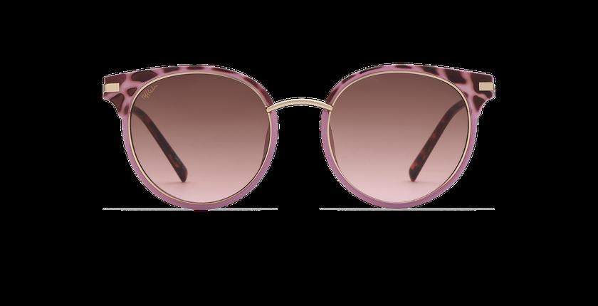 Lunettes de soleil femme BARCELO écaille/violet - Vue de face
