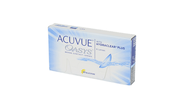 Lentilles de contact Acuvue Oasys with Hydraclear Plus 6L - Vue de face