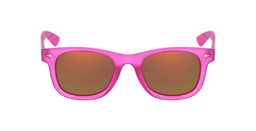 Lunettes de soleil enfant PLD 8009/N rose - Vue de face