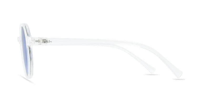Lunettes de soleil femme DELFIA blanc - Vue de côté