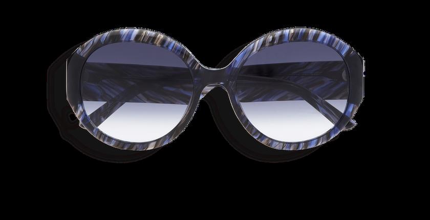 Lunettes de soleil femme NAOMIE bleu - Vue de face
