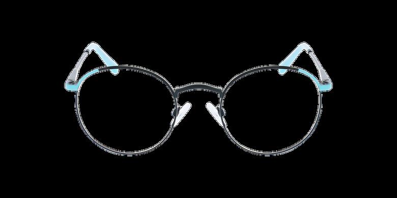 Lunettes de vue femme MELINA noir/turquoiseVue de face