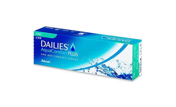 Lentilles de contact Dailies AquaComfort Plus Toric 30L - Vue de face