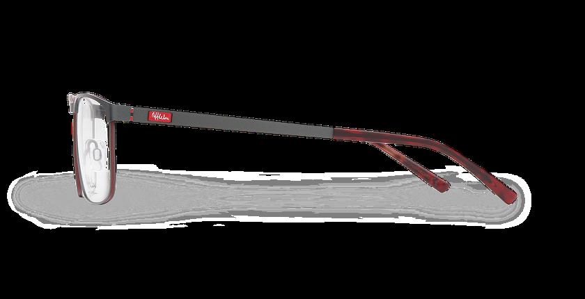 Lunettes de vue homme ALPHA18 gris - Vue de côté