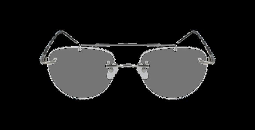 Lunettes de vue IDEALE-17 argenté/noir - Vue de face