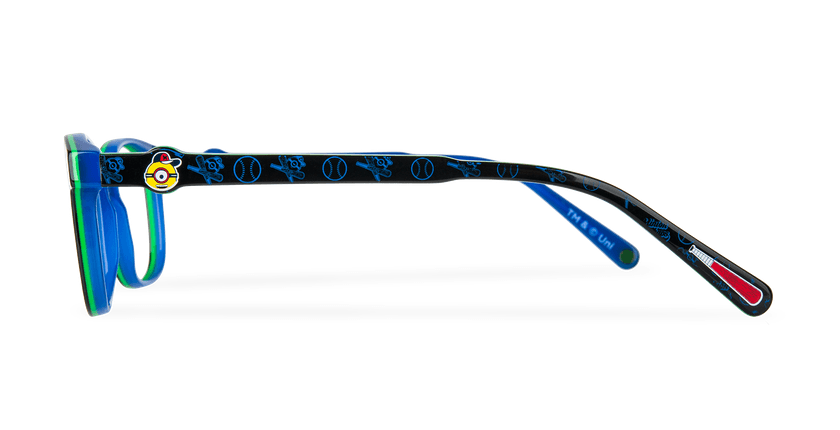 Lunettes de vue enfant STUART noir/bleu - Vue de côté