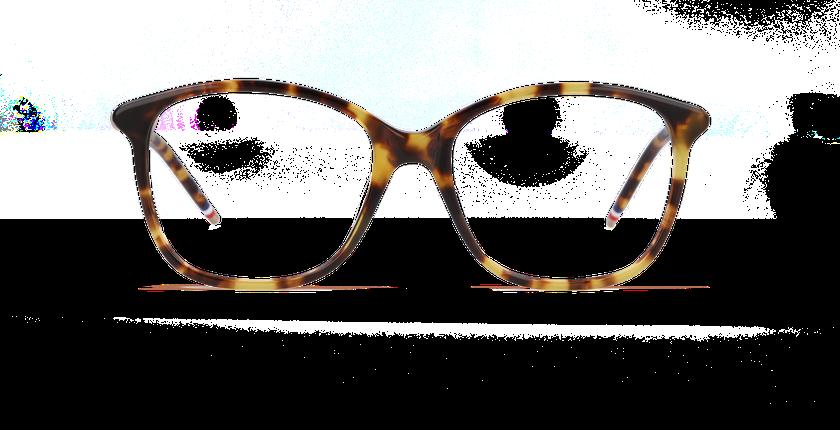 Lunettes de vue femme ROSE écaille - Vue de face